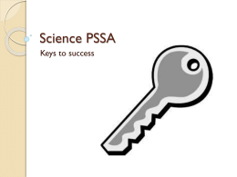 Science PSSA - DuBois Area School District