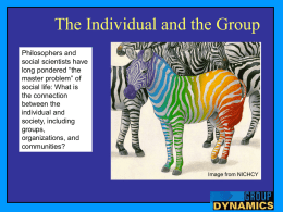 Individual and the Group Power Point