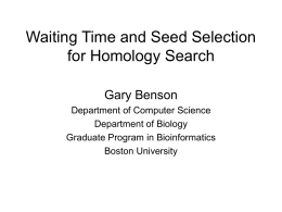 Waiting Time and Seed Selection for Homology Search