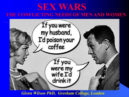 Sex Wars - Gresham College