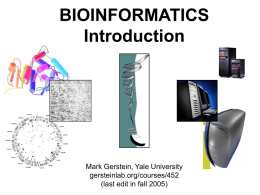 Bioinformatics: Overview