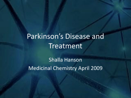 Parkinson`s Disease and Treatment