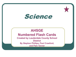 Flashcards Science