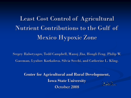 Least-Cost Control of Agricultural Nutrient Contributions to the Gulf