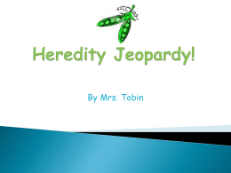 Heredity Jeopardy!