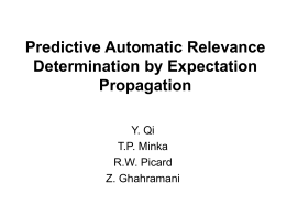 Predictive Automatic Relevance Determination by Expectation