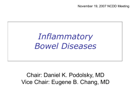 Inflammatory Bowel Diseases Intestinal Failure and