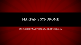 Marfan`s Syndrome PPT