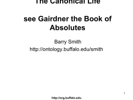 The_Canonical_Life_O.. - Buffalo Ontology Site