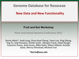Genome Database for Rosaceae: New Data and New