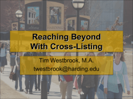 Reaching Beyond With Cross-Listing