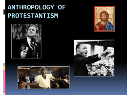 Anthropology of Protestantism