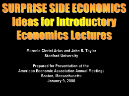 Surprise Side Economics