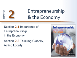 Section 2.1: Importance of Entrepreneurship in