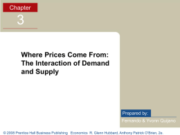 Where Prices Come From: The Interaction of Demand and Supply