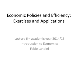 6. Economic policies and efficiency