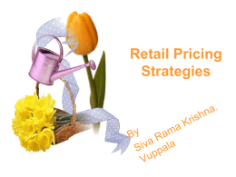 Retail Pricing Strategies