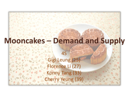 Mooncakes – Demand and Supply