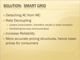 Solution: Smart Grid - The Franke Institute for the Humanities