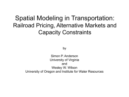 Spatial Modeling in Transportation: Railroad Pricing