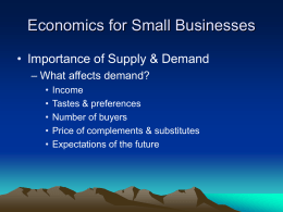 Economics for Small Businesses