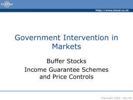 ###Government Intervention in Markets