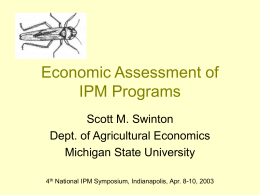 Econ Assessment of IPM Programs