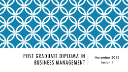 Post Graduate Diploma in Business Management
