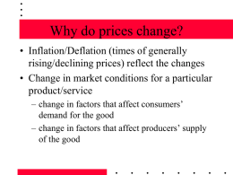 Why do prices change?