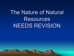 The Nature of Natural Resources
