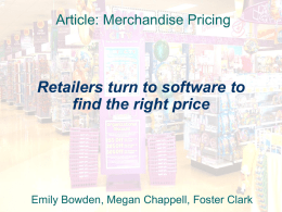Retailers turn to software to find the right price