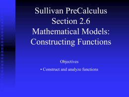 Constructing Functions