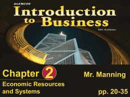 Ch2 - Economic Resources and Systems
