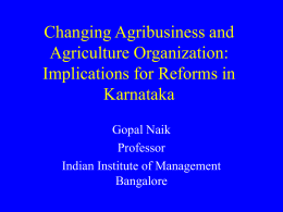 Methods of Risk Management in Agriculture Under Trade