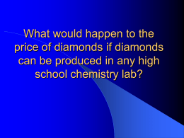What would happen to the price of diamonds if diamonds can be