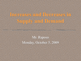 PowerPoint:Shifting Supply and Demand