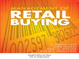 Ch. 1: An Overview of Retail Buying