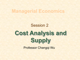 Cost Analysis and Supply