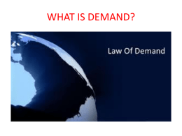 "1-What is ""demand""?"