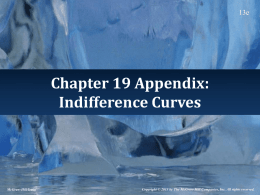 Indifference Curves - McGraw Hill Higher Education