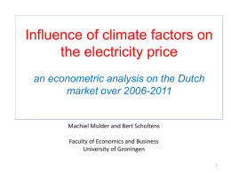 The Impact of Renewable Energy on Electricity Prices in the