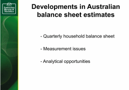 Quarterly household balance sheet