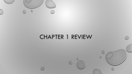 Chapter 1 Review - Campbell County Schools