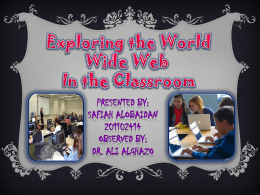 Students using the Web as a tool A