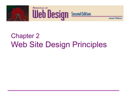 Principles of Web Design Chapter 2