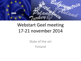 Webstart 2 Finland - Welcom to the Web Start
