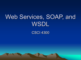 SOAP and WSDL