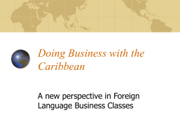 Doing Business with the Caribbean