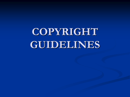 CEC COPYRIGHT GUIDELINES