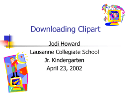 Downloading Clipart